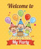 Welcome to my party  — Stock Vector