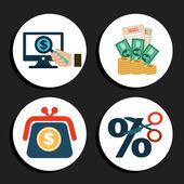 Geld-symbole — Stockvektor
