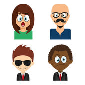 Avatars people — Stock Vector