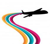 Airplane design illustration — Stock Vector