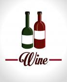 Wine design illustration — Stock Vector