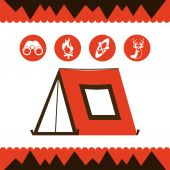 Camping tent — Stock Vector
