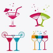 Cocktail design. — Vector de stock