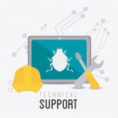 Technical support design. — Stock Vector