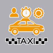 タクシー設計. — ストックベクタ