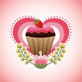 Sweet cupcake  — Stockvector