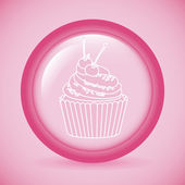 Dulce cupcake — Vector de stock