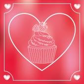 Sweet cupcake  — Stock Vector