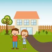 Happy family  — Wektor stockowy