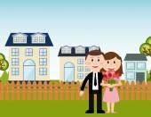 Família feliz — Vetor de Stock