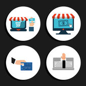 Ecommerce icon  — Vector de stock