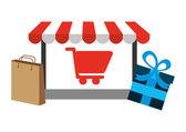 E-commerce icon — Stock Vector