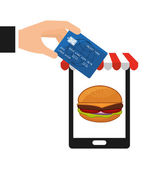 Fast food commerce  — Stock Vector