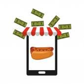 Fast food commerce  — Vector de stock