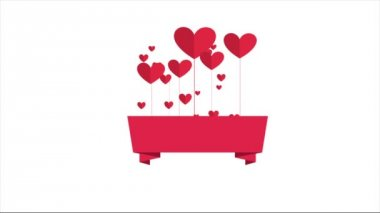 Heart Video animation — Stock Video