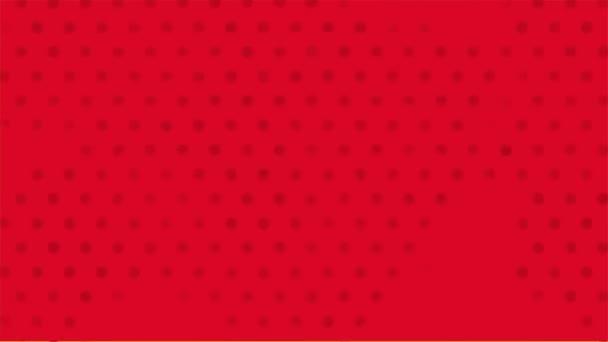Red background, pop art Video animation — Vidéo