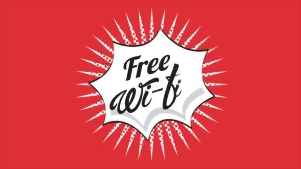 Wifi gratuito, Video animación — Vídeo de stock