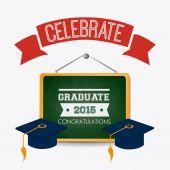Diseño de la graduación. — Vector de stock