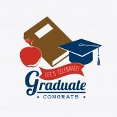 Graduation design. — Stock Vector