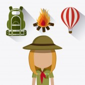 Camping design. — Stock Vector