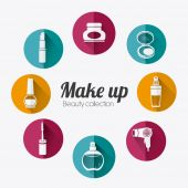 Make up design. — Stock Vector