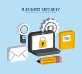 ビジネス セキュリティ — ストックベクタ