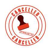 Cancelled seal  — Stock Vector