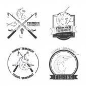 Torneo di pesca — Vettoriale Stock