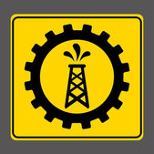 Industrial signal — Stock Vector