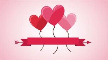 Love Video animation — Stock Video