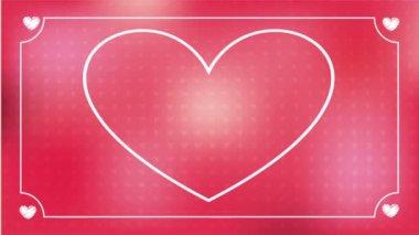 Amor vídeo animação — Vídeo stock