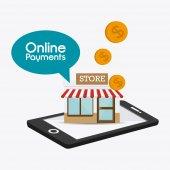 Online betalingen ontwerp. — Stockvector