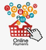 Online payments design — Cтоковый вектор