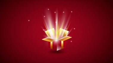 Gift, Video animation — Stock Video