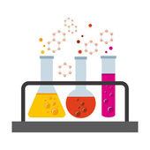 Laboratory concept — Stock Vector
