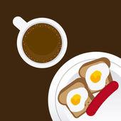 Delicious breakfast  — Stock Vector