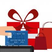 Kredi kartı — Vector de stock