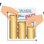 Time taxes  — Stock Vector