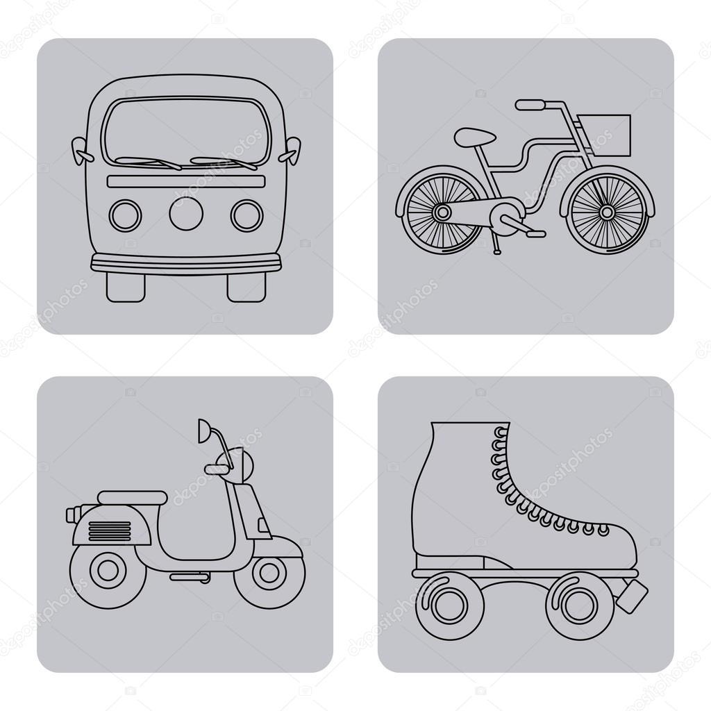 复古的设备设计, 矢量图 eps10 图形– 图库插图