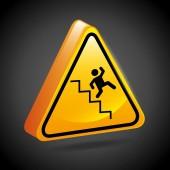 Caution signals  — Stock Vector