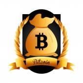 Bit coin  — Stock Vector