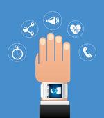 Wearable technologie — Stockvector