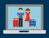 E-commerce concept — Stock Vector