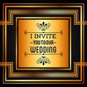 Convite de casamento — Vetor de Stock