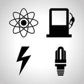 Ícones de energia — Vetor de Stock