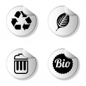 Ecologie pictogrammen — Stockvector