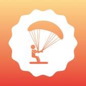 Parachute flight  — Stock Vector
