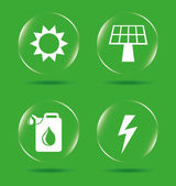 Energy icons — Stock Vector