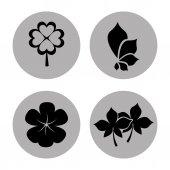 花のアイコン — ストックベクタ