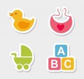 Baby pictogrammen — Stockvector